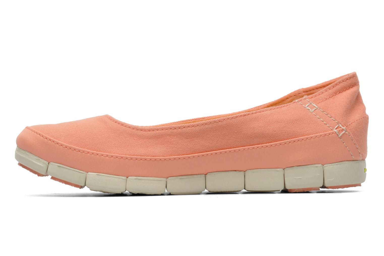 Ballerina's Crocs Stretch Sole Flat W Roze voorkant