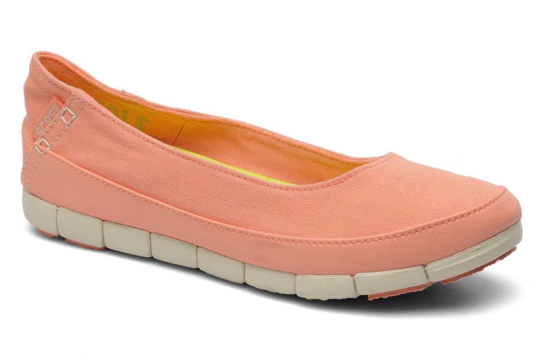 Ballerines Crocs Stretch Sole Flat W Rose vue détail/paire