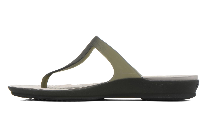 Zehensandalen Crocs Crocs Rio Flip W schwarz ansicht von vorne