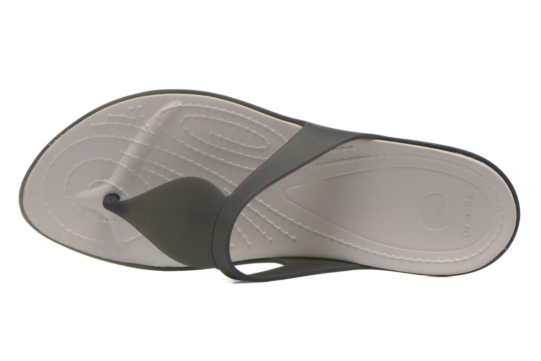 Zehensandalen Crocs Crocs Rio Flip W schwarz ansicht von links