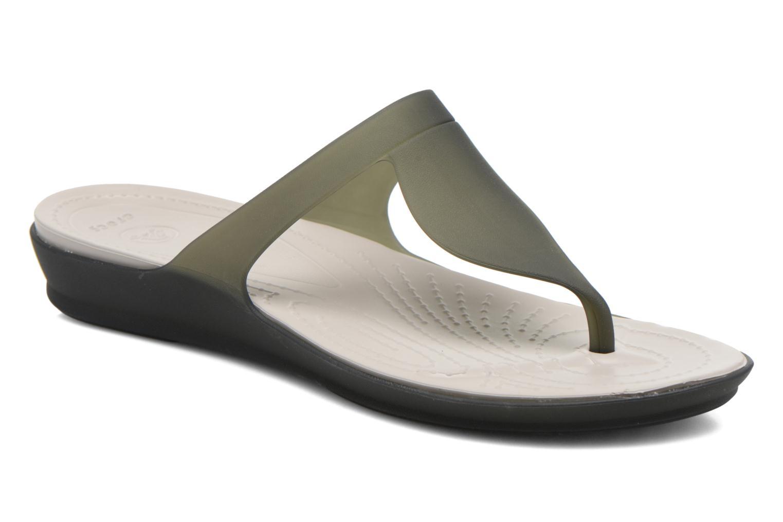 Zehensandalen Crocs Crocs Rio Flip W schwarz detaillierte ansicht/modell