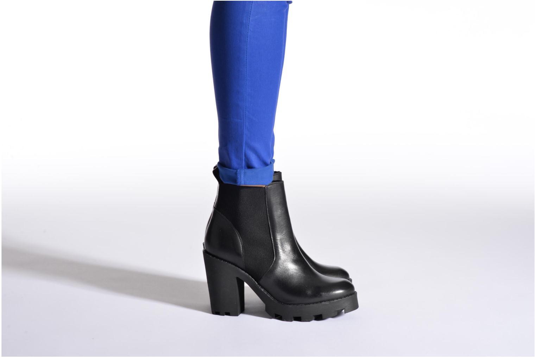 Bottines et boots Pieces Uzza Noir vue bas / vue portée sac
