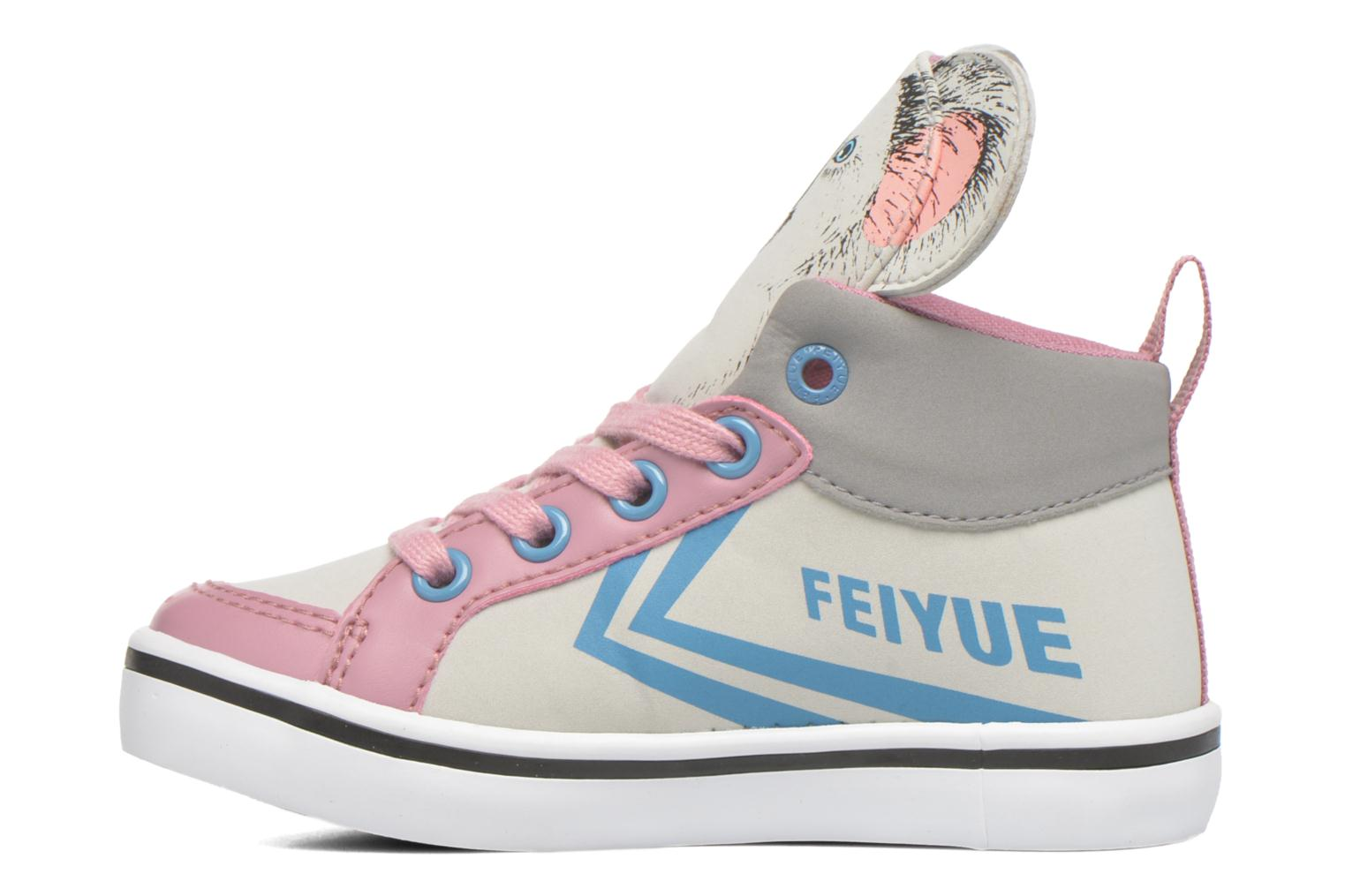 Trainers Feiyue Delta Mid Animal 2 Grey front view