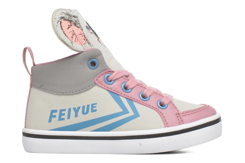 Sneaker Feiyue Delta Mid Animal 2 grau ansicht von hinten