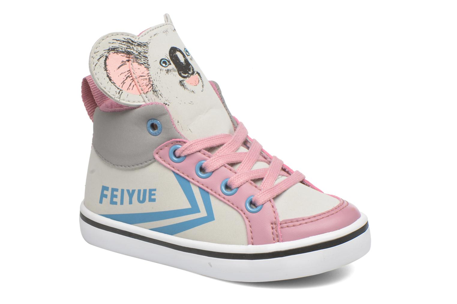 Trainers Feiyue Delta Mid Animal 2 Grey detailed view/ Pair view