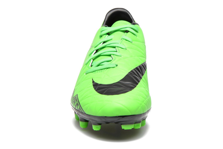 Zapatillas de deporte Nike Hypervenom Phelon II Fg Verde vista del modelo