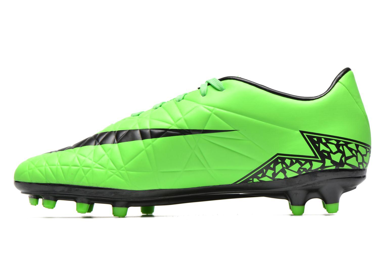 Zapatillas de deporte Nike Hypervenom Phelon II Fg Verde vista de frente