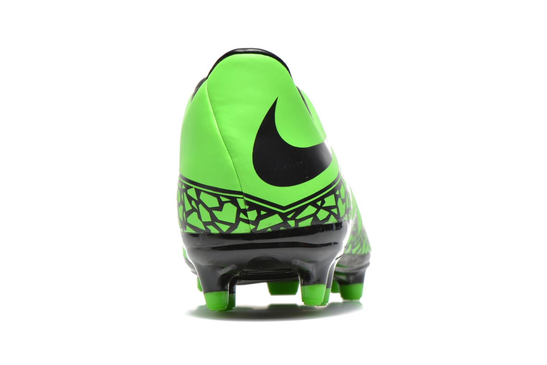 Zapatillas de deporte Nike Hypervenom Phelon II Fg Verde vista lateral derecha