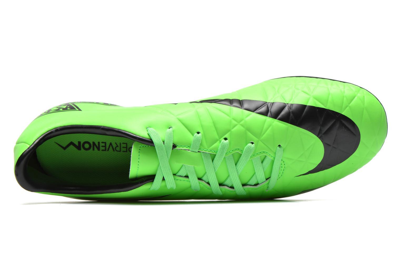 Zapatillas de deporte Nike Hypervenom Phelon II Fg Verde vista lateral izquierda