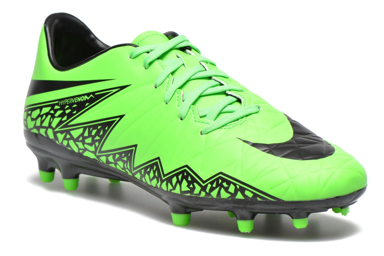Chaussures de sport Nike Hypervenom Phelon II Fg Vert vue détail/paire
