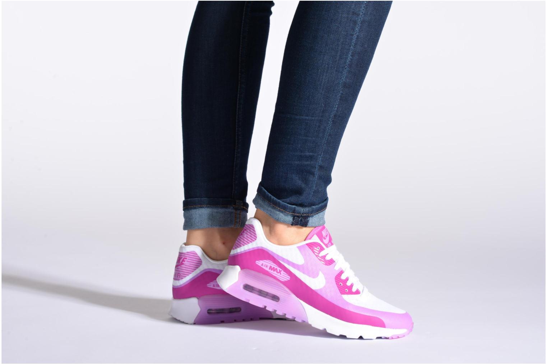 Baskets Nike W Air Max 90 Ultra Br Violet vue bas / vue portée sac