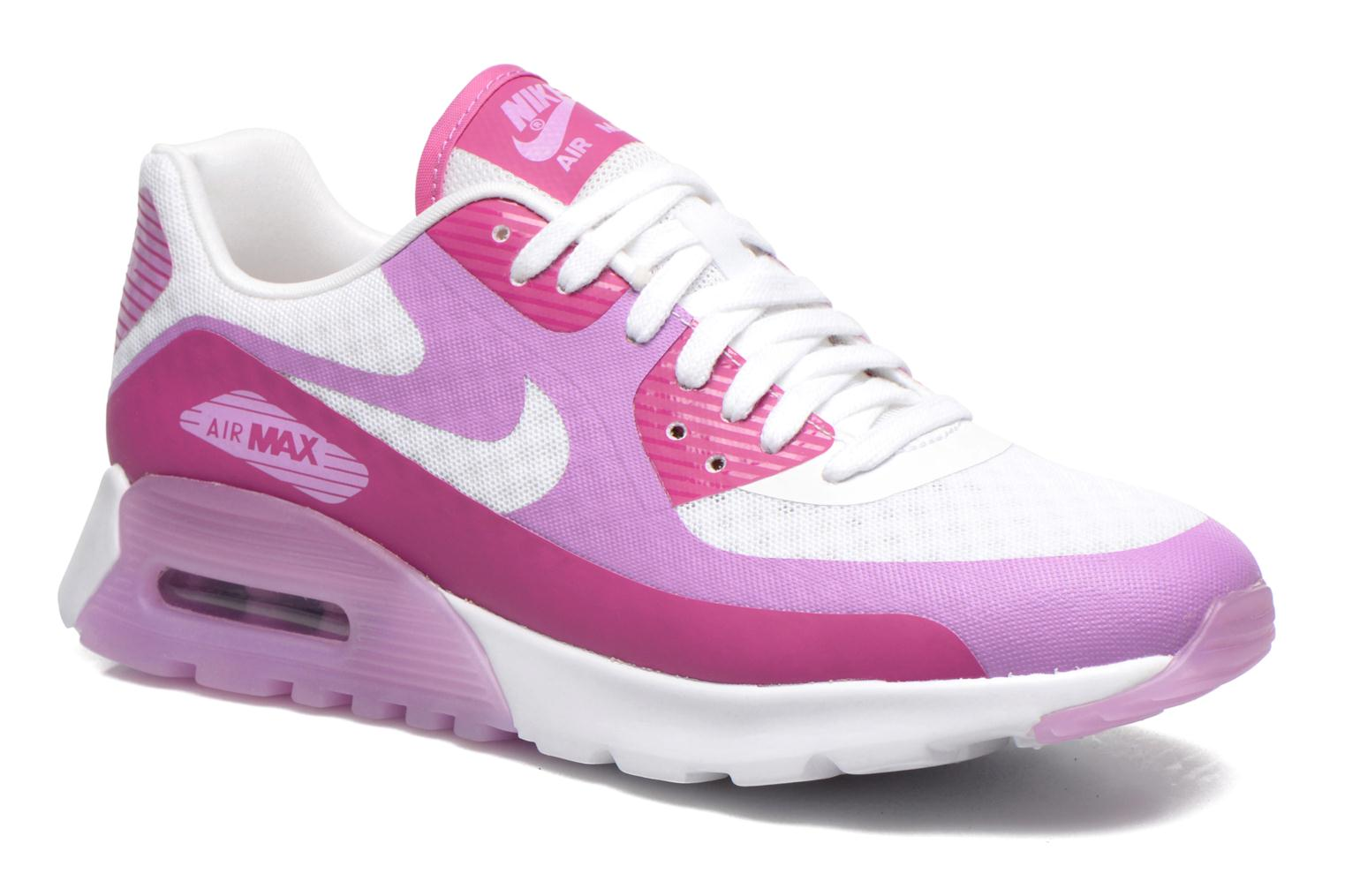 W Air Max 90 Ultra Br White/Fuchsia Glow-Fchs Flash