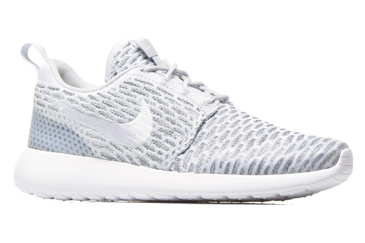 Wmns Roshe One Flyknit Pure Platinum/White-Cool Grey