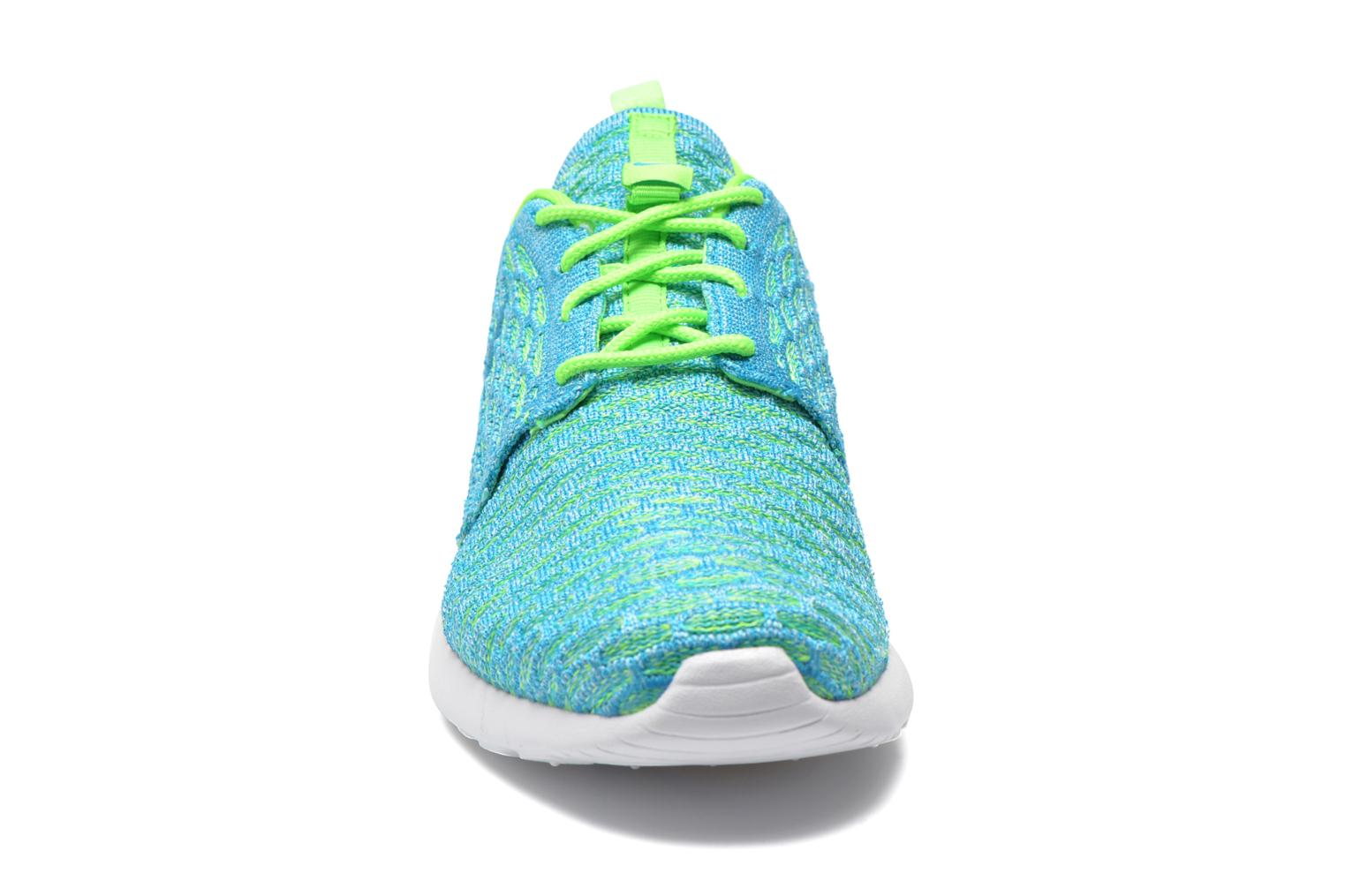 Baskets Nike Wmns Roshe One Flyknit Vert vue portées chaussures