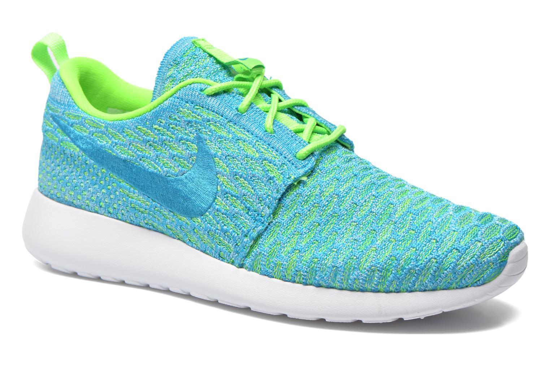 Baskets Nike Wmns Roshe One Flyknit Vert vue détail/paire