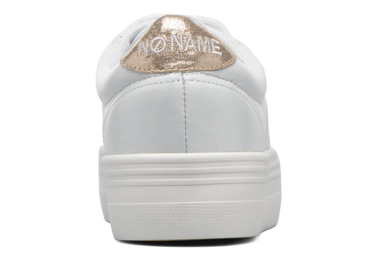 Baskets No Name Plato Sneaker Nappa Blanc vue droite