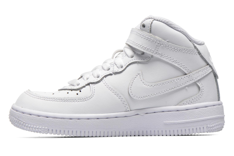 Sneaker Nike Air Force 1 Mid (PS) weiß ansicht von vorne