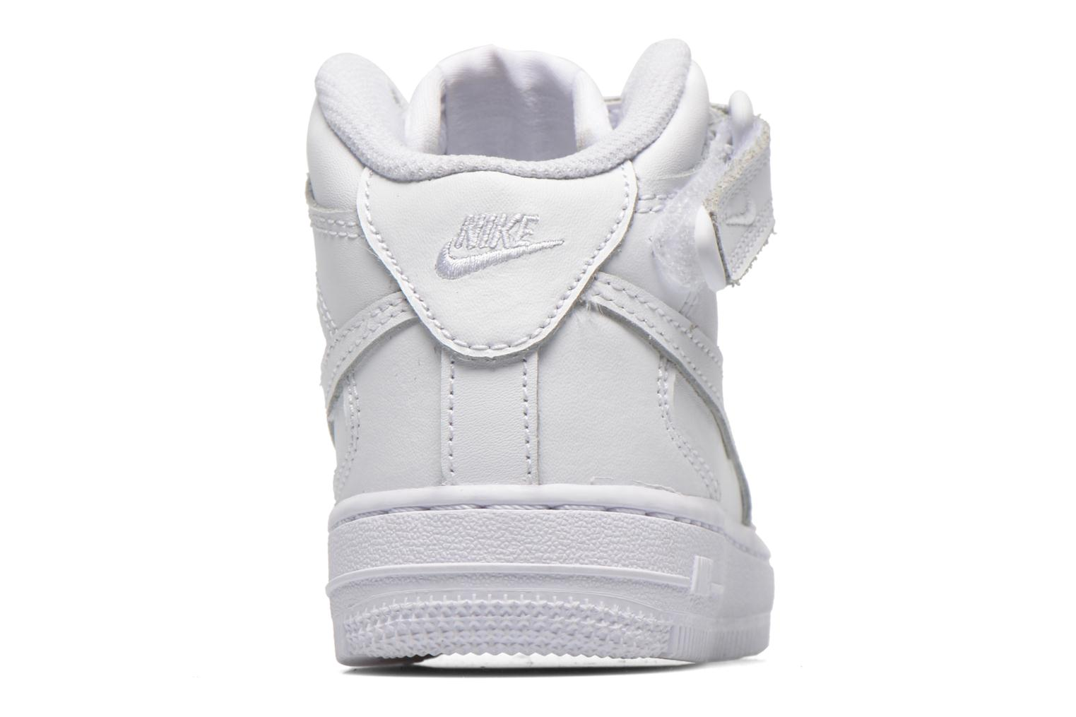 Baskets Nike Air Force 1 Mid (PS) Blanc vue droite