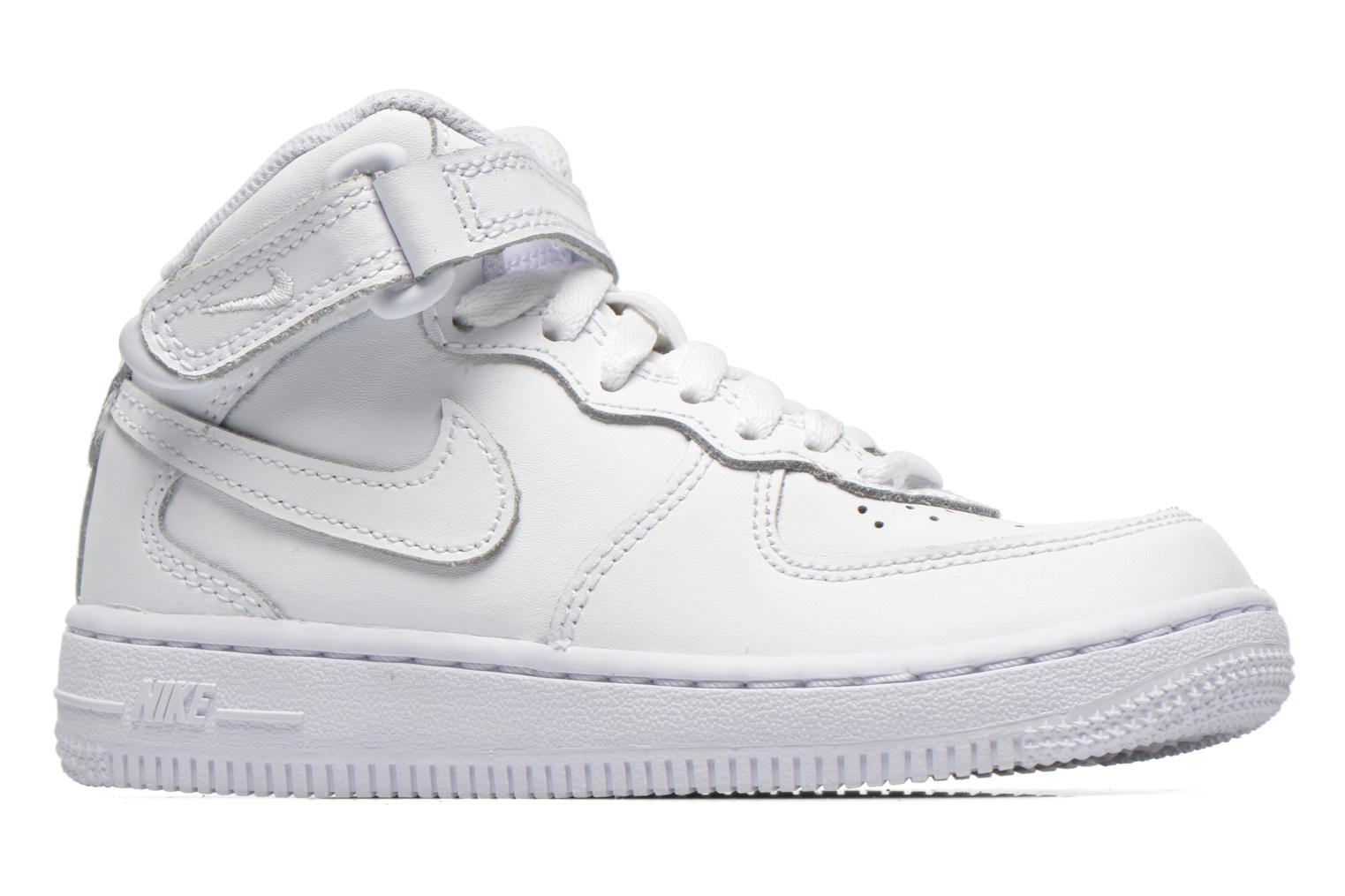 White White-White Nike Air Force 1 Mid (PS) (Blanc)