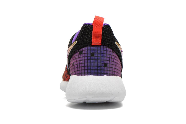 NIKE ROSHE ONE PRINT (GS) Black/White-Hyper Violet-Volt