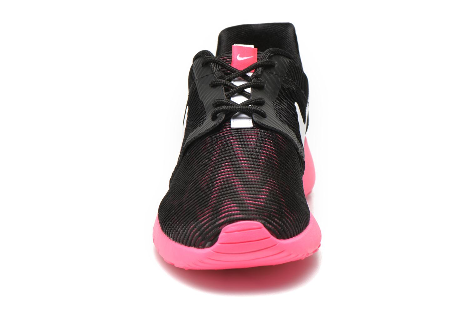 Black/White-Hyper Pink Nike ROSHE ONE FLIGHT WEIGHT (GS) (Noir)
