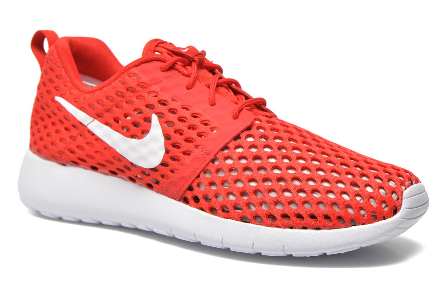 Trainers Nike ROSHE ONE FLIGHT WEIGHT (GS) Red detailed view/ Pair view