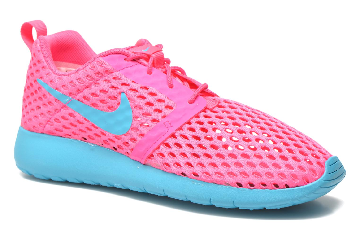 Ghost Green Pink Blast Nike ROSHE ONE FLIGHT WEIGHT (GS) (Vert)