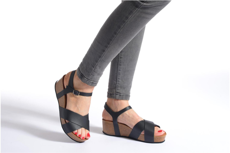 Sandales et nu-pieds I Love Shoes Climatte Noir vue bas / vue portée sac