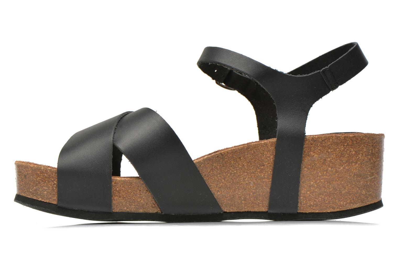 Sandales et nu-pieds I Love Shoes Climatte Noir vue face