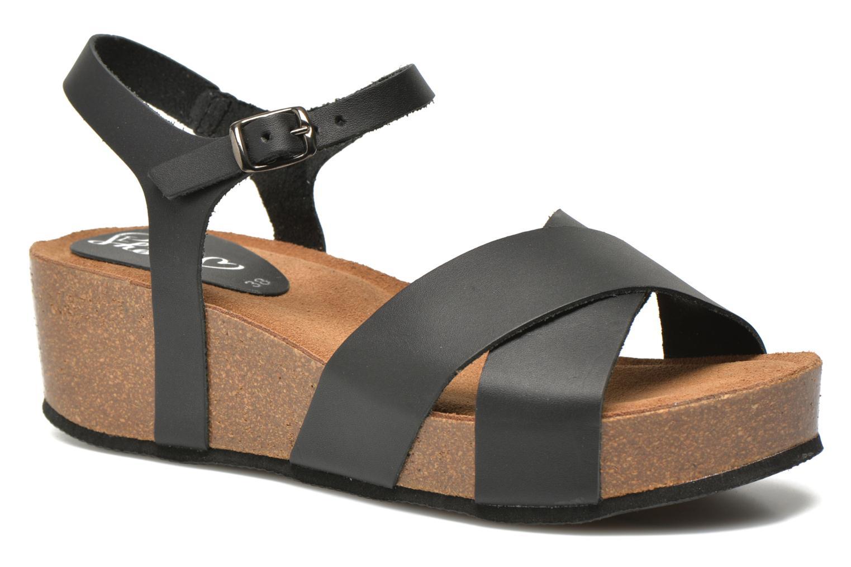 Sandales et nu-pieds I Love Shoes Climatte Noir vue détail/paire
