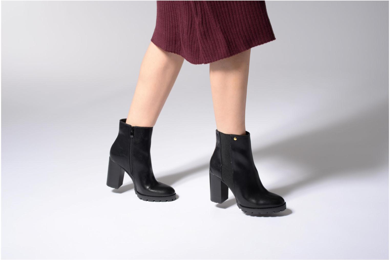 Bottines et boots Buffalo Bugom Noir vue bas / vue portée sac
