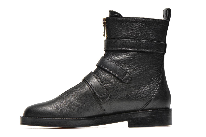 Bottines et boots Sonia Rykiel Biker Buckel Noir vue face