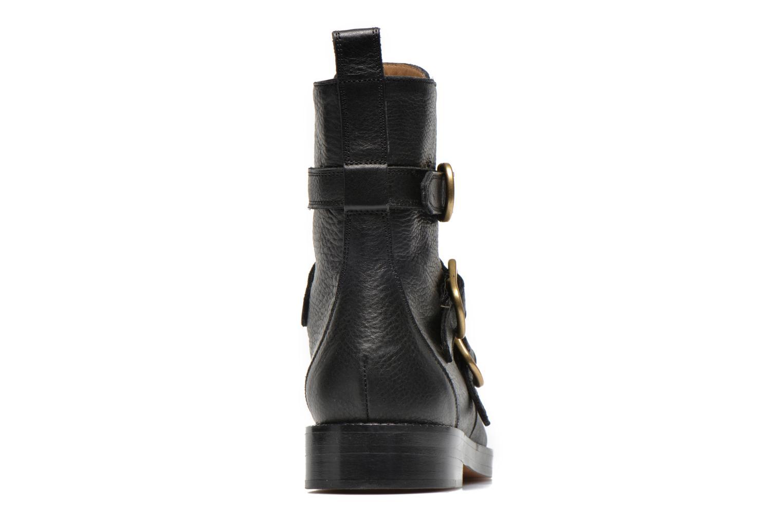 Bottines et boots Sonia Rykiel Biker Buckel Noir vue droite