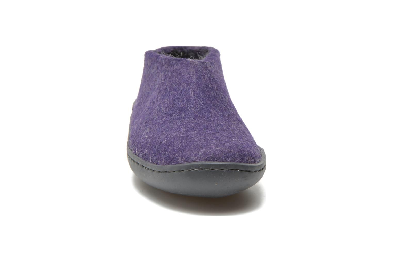 Chaussons Glerups Porter Gomme W Violet vue portées chaussures