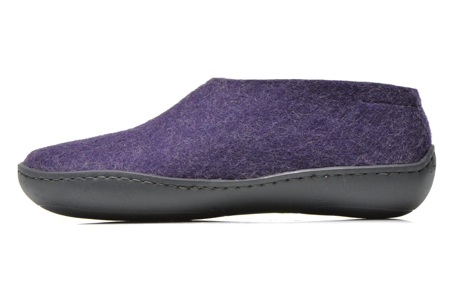 Chaussons Glerups Porter Gomme W Violet vue face