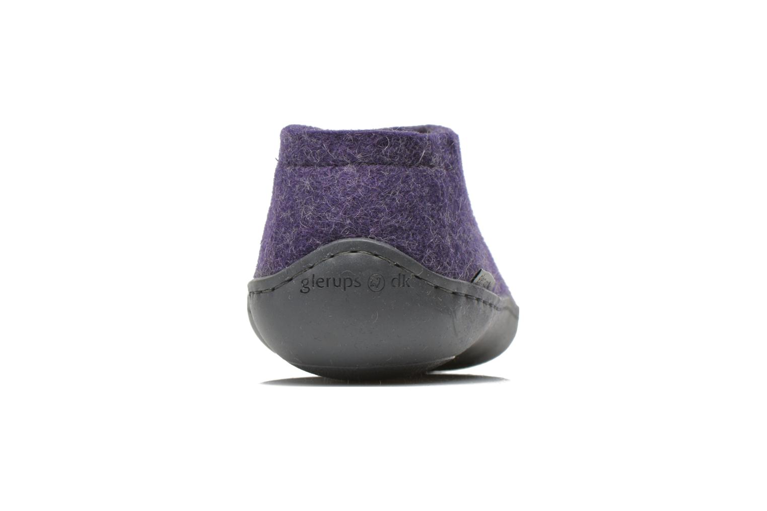 Chaussons Glerups Porter Gomme W Violet vue droite