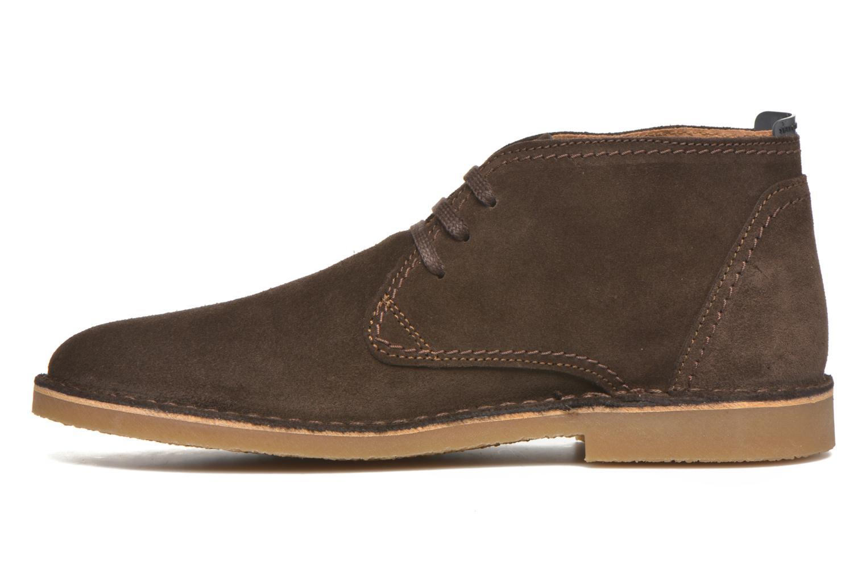 Chaussures à lacets Selected Homme Royce Warm Marron vue face