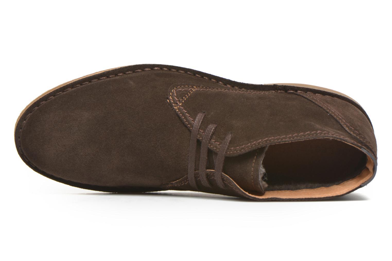 Chaussures à lacets Selected Homme Royce Warm Marron vue gauche