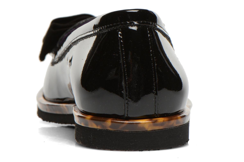Spock cuir vernis noir + bande écaille
