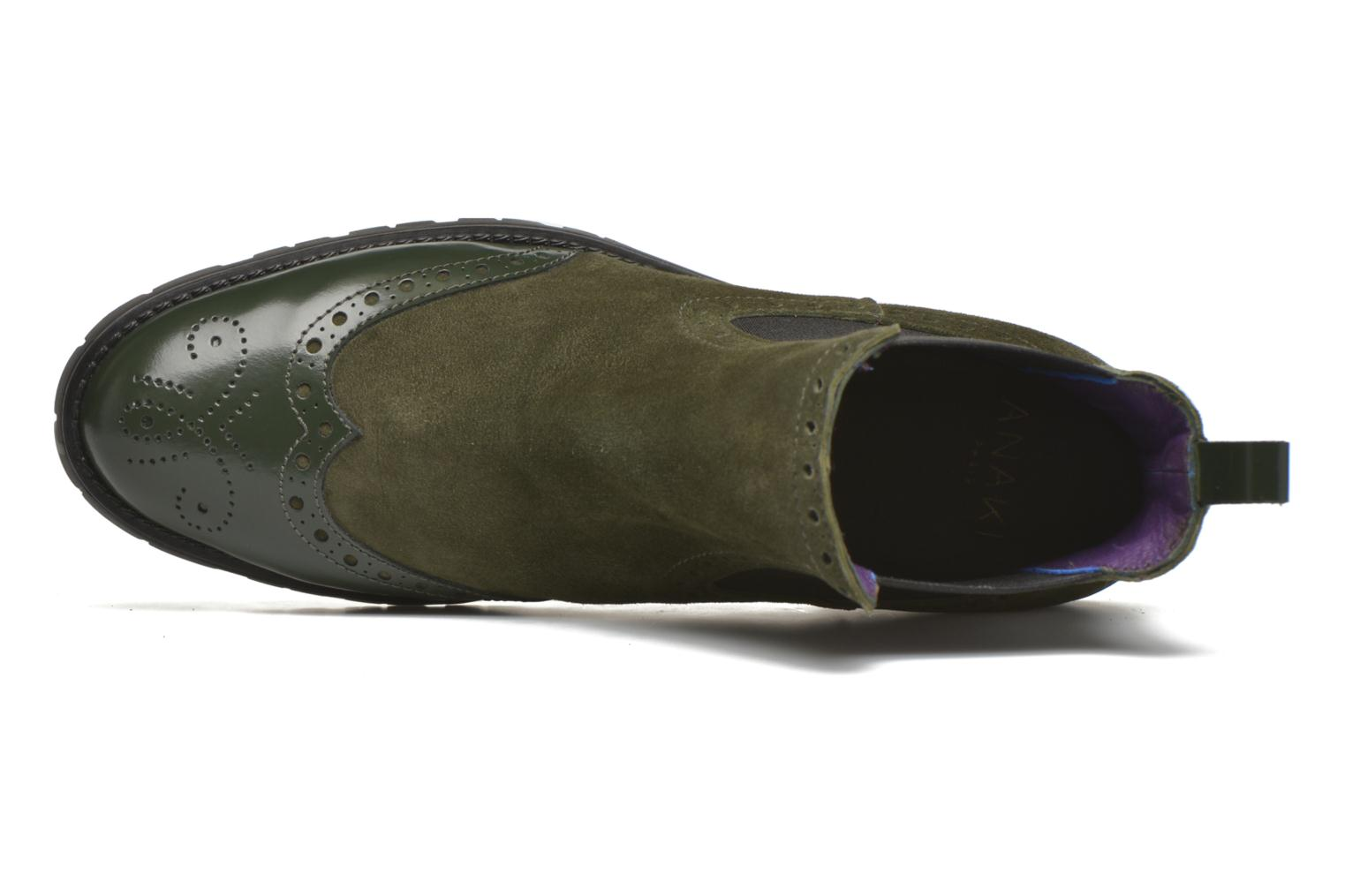 Ankle boots Anaki Tierra Green view from the left