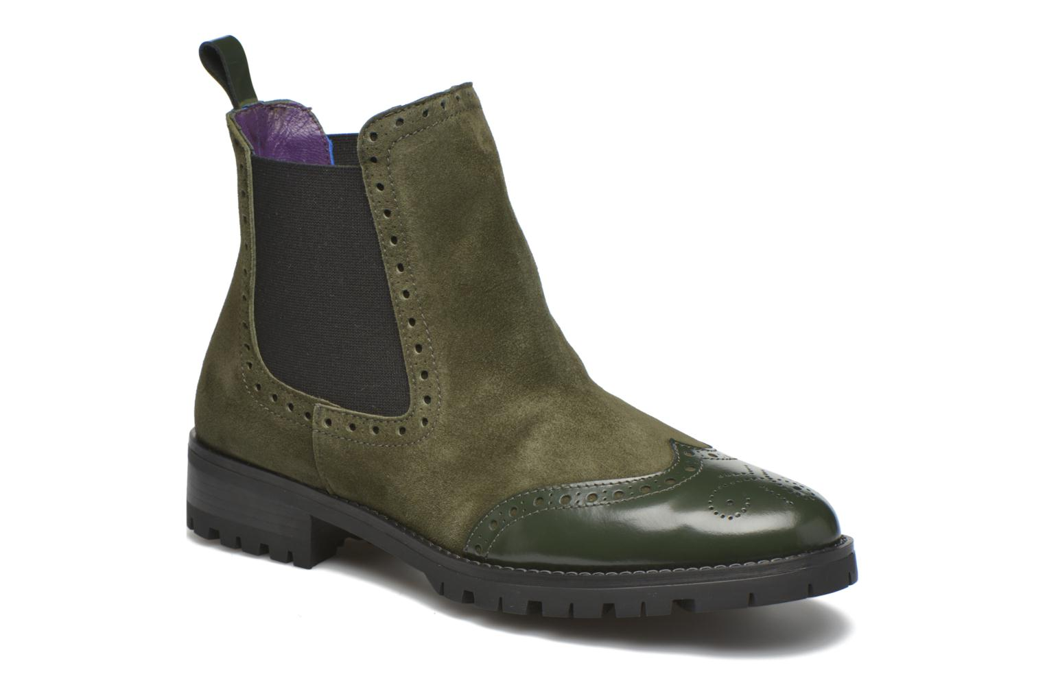 Ankle boots Anaki Tierra Green detailed view/ Pair view