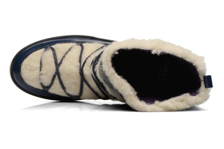 Moonsheep Cuir noir mouton blanc
