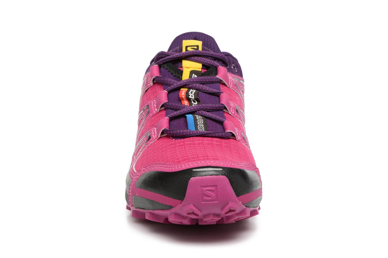 Chaussures de sport Salomon SpeedCross Vario W Rose vue portées chaussures