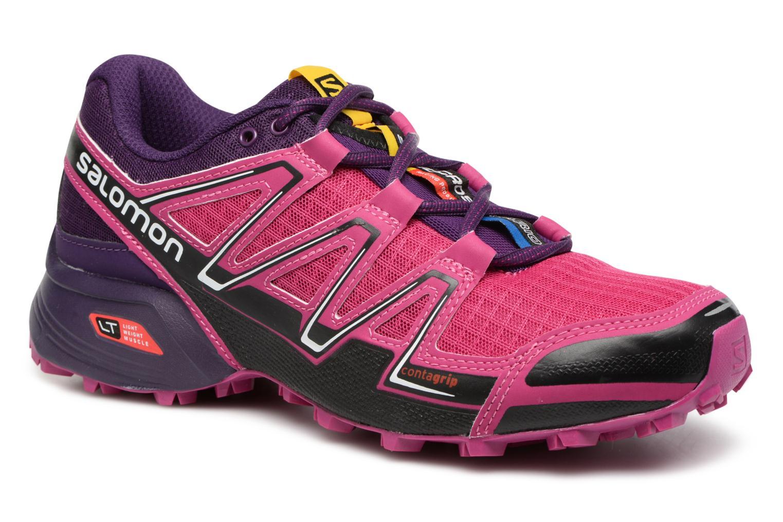 Chaussures de sport Salomon SpeedCross Vario W Rose vue détail/paire
