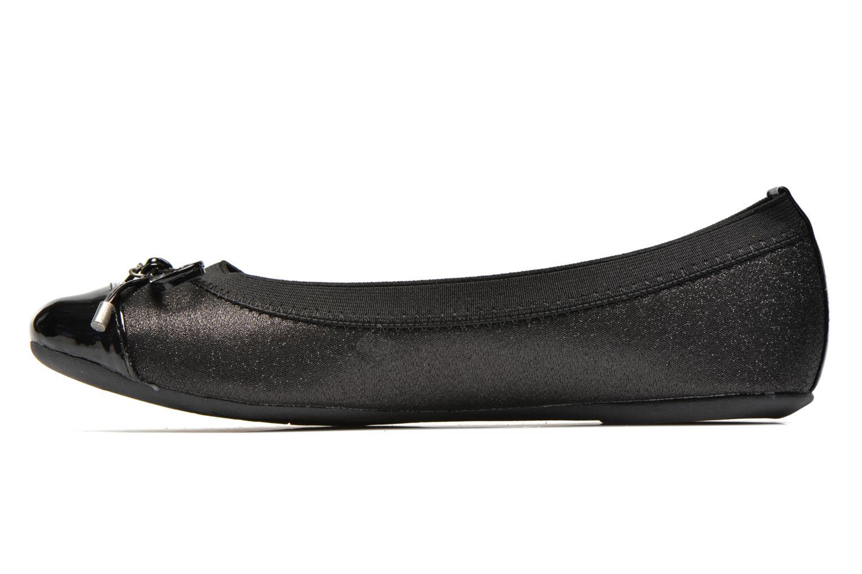 Ballerinas Refresh Kacy-61163 schwarz ansicht von vorne