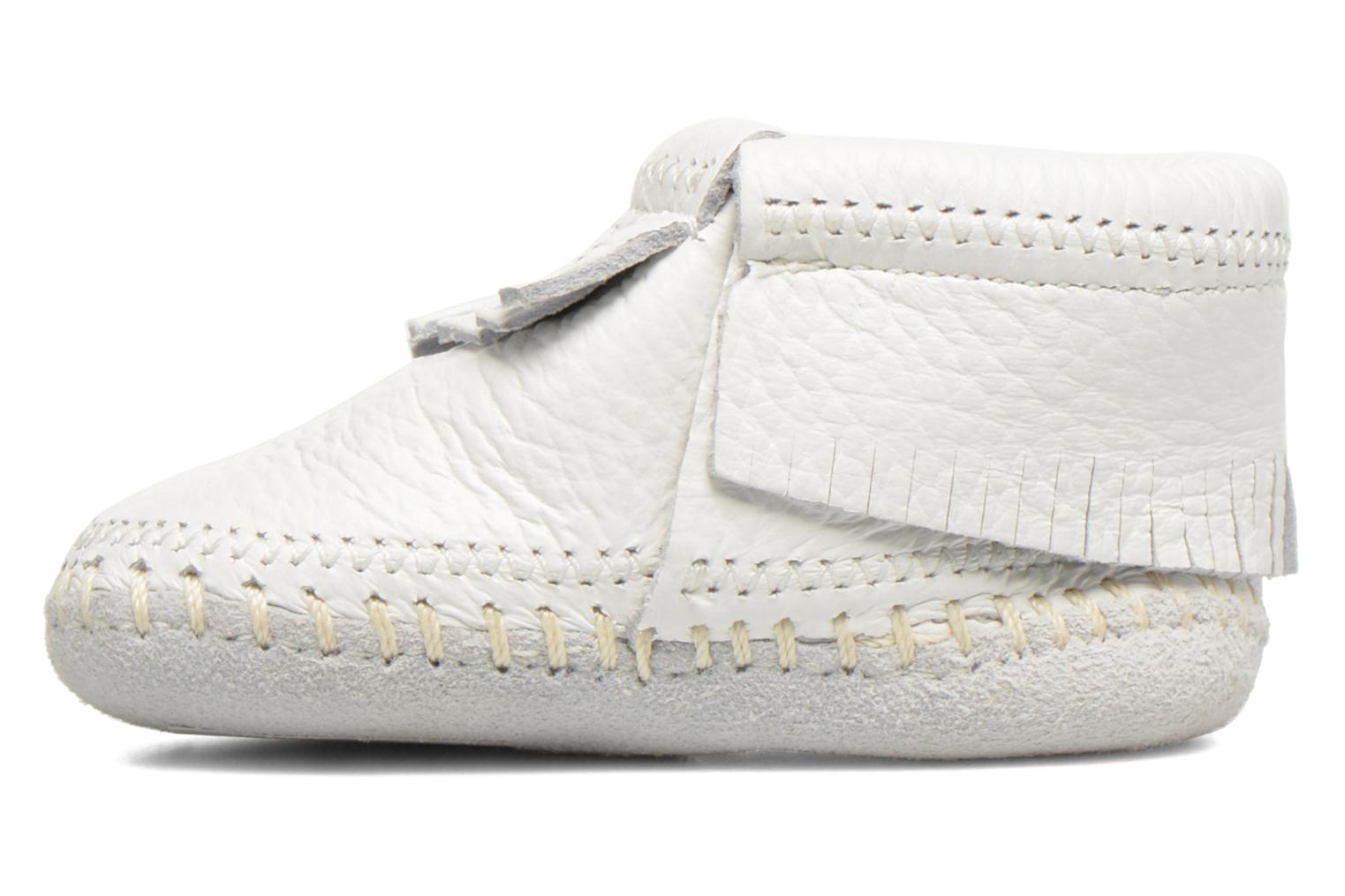 Chaussons Minnetonka Riley Bootie Blanc vue face