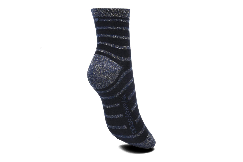 Chaussettes et collants My Lovely Socks Victoria Bleu vue gauche