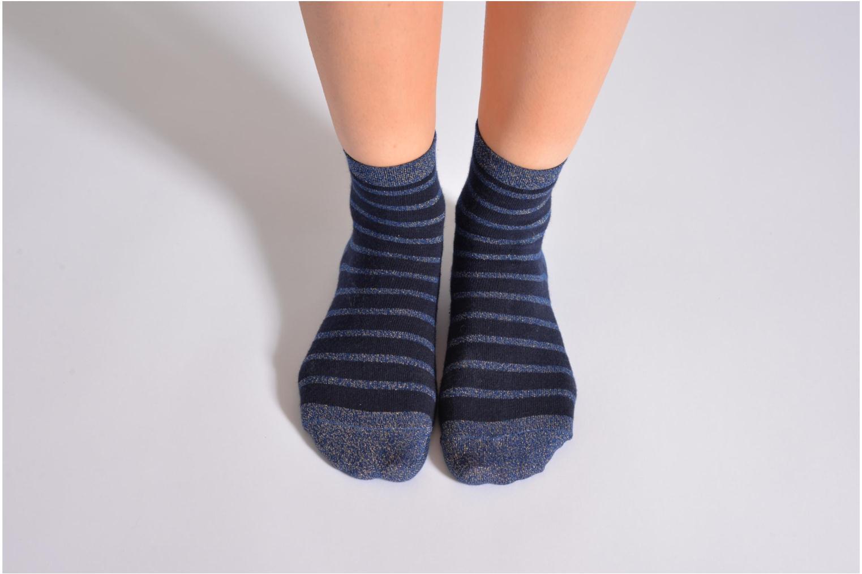Chaussettes et collants My Lovely Socks Victoria Bleu vue haut