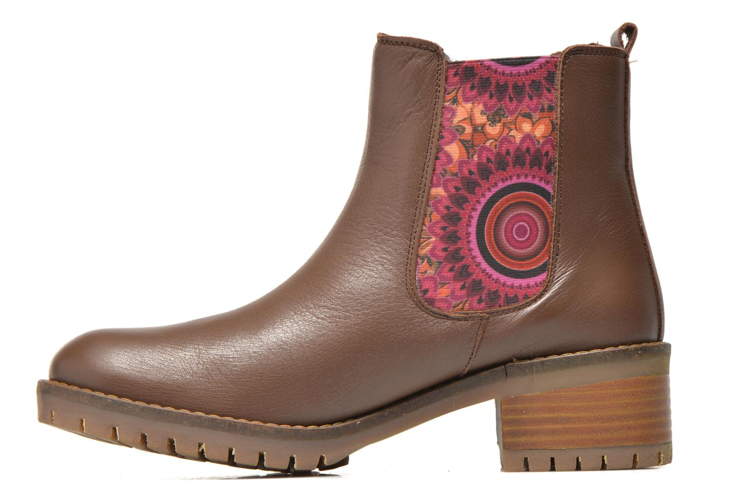 Bottines et boots Desigual Charly Marron vue face