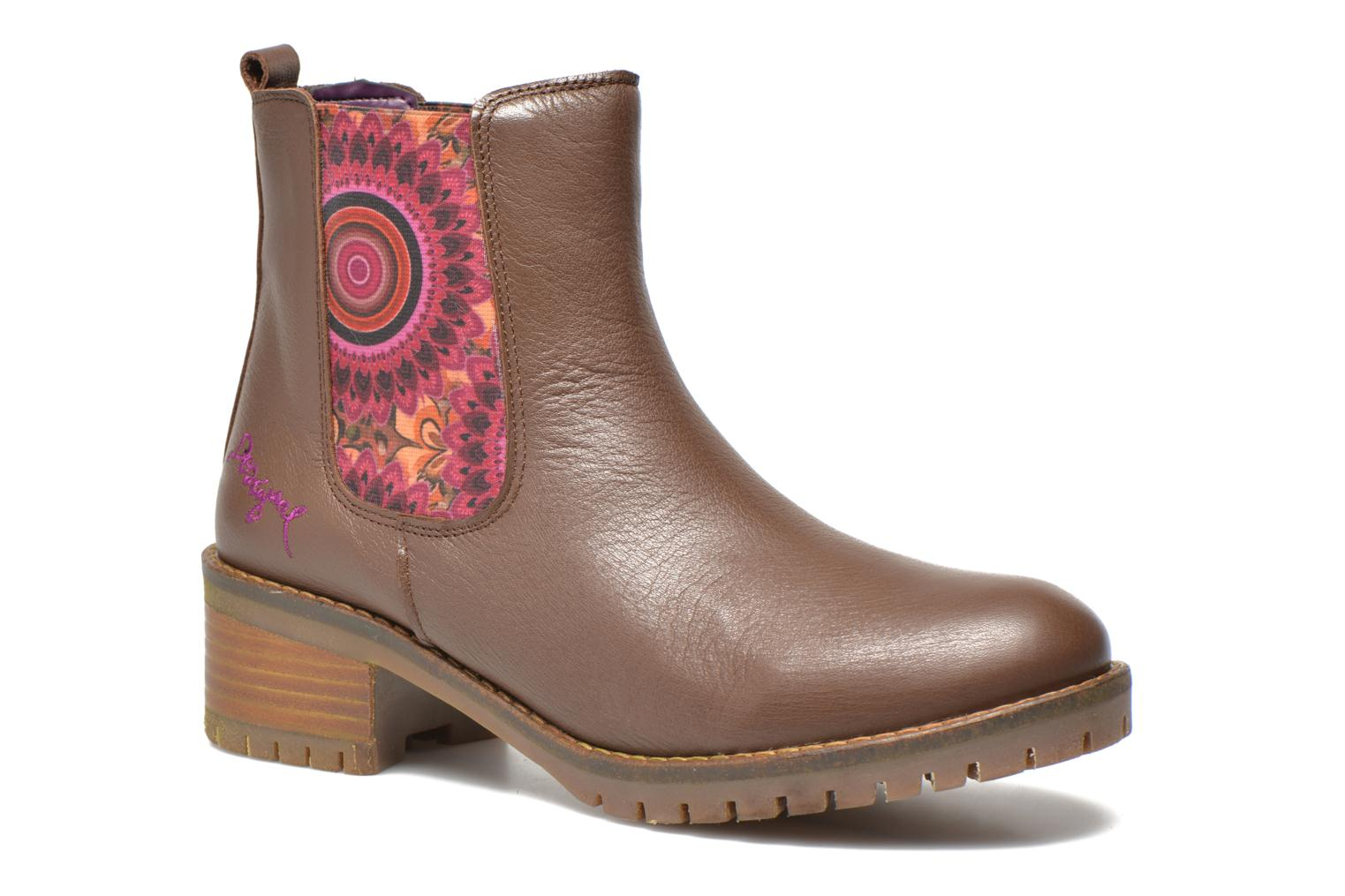 Bottines et boots Desigual Charly Marron vue détail/paire